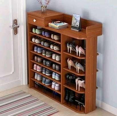 6 tier wooden shoe rack image 1