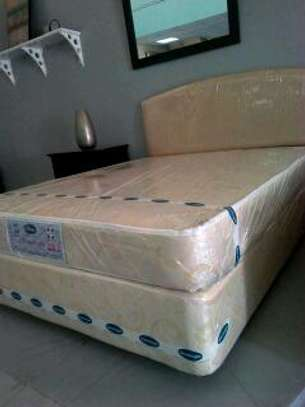 Complete Bed Set, with Spring Mattress.