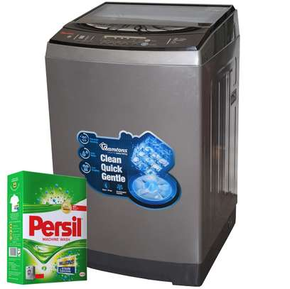 RAMTONS TOP LOAD FULLY AUTOMATIC MAGIC CUBE 12KG WASHER + FREE PERSIL POWDER- RW/136 image 1