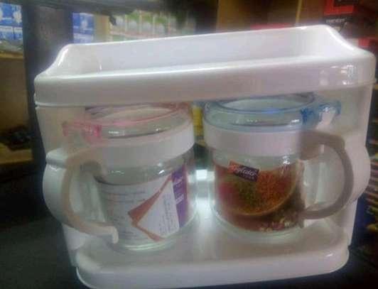 Glass sugar dish