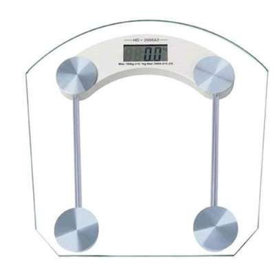 Glass top weighing scale image 1