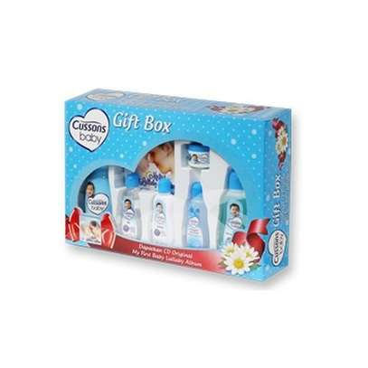 Cussons Soft & Smooth 7 Pc Baby Gift Box-blue