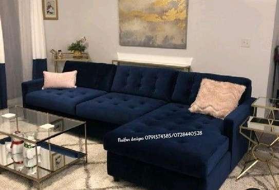 six seater sofas/tufted sofa/L shaped sofas image 1