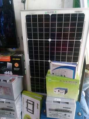 Complete solar pannel kit 80 watts image 1