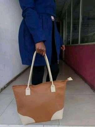 Single brown handbag(plain) image 1