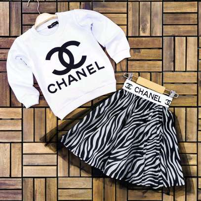 Young girls Chanel skirt sets image 1