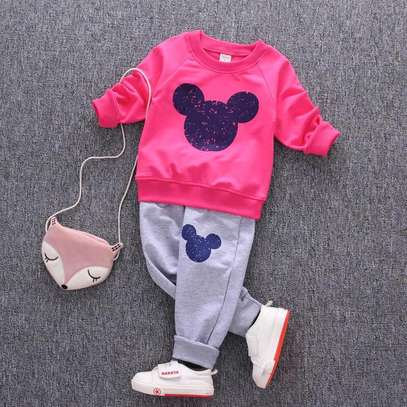 Girls 2 piece tracksuit image 1