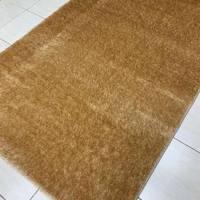 Turkish soft  carpet 5 by 8 light brown image 1