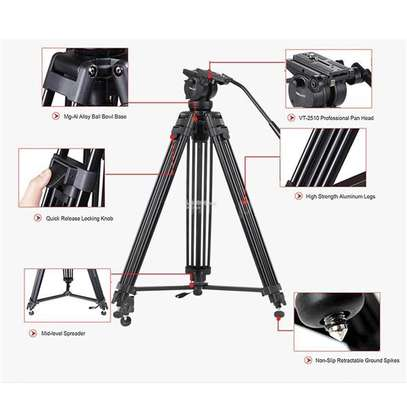 Kingjoy VT-2500+VT-2510 black Professional Video/Camera Tripod Kit image 1