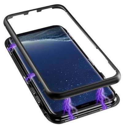 Magnetic Luxury Cases For Samsung S8 S8 Plus With Tempered Back Glass image 3