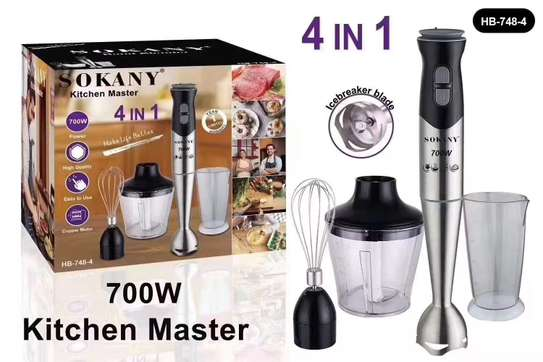 Sokany 4 In 1 Hand Blender image 1