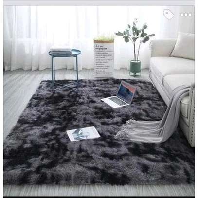 Patched fluffy carpet