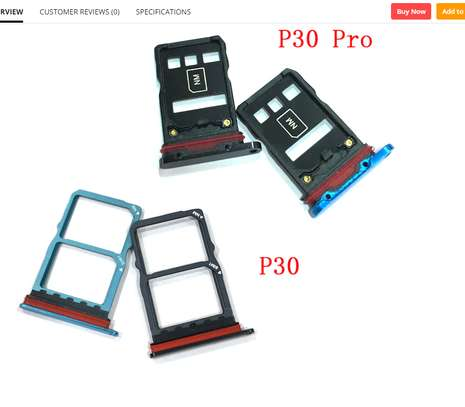 Replacement Dual/Single SIM Tray SD Card Reader for Huawei P30 P30 Pro P30 Lite