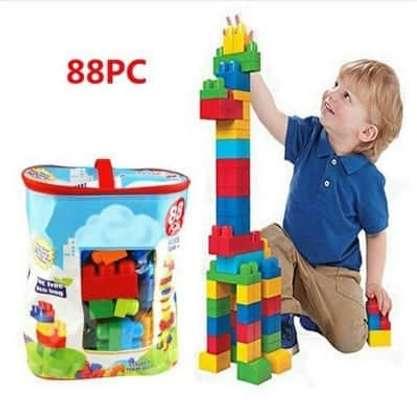 Children Kids Bricks - Building Blocks Set Learning Toy image 1