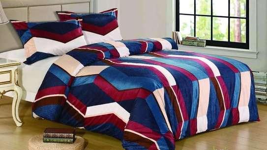 woolen duvet red and blue image 1