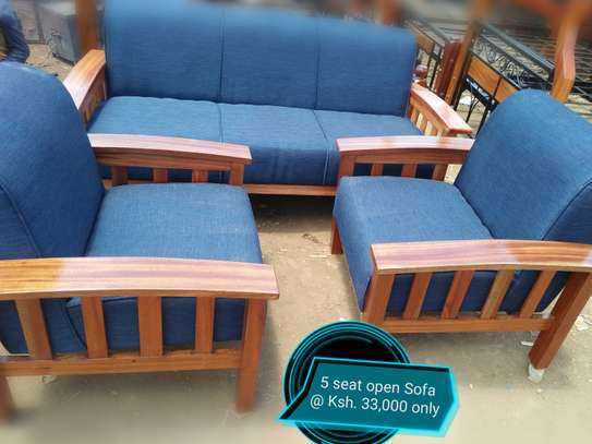 Blue open sofa image 1