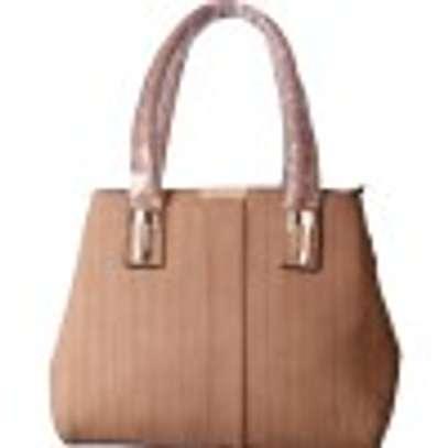Stylish 4 piece Apricot Hand Bag image 2