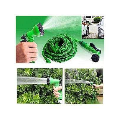 Magic Hose Stretch Flexible Expandable 3X Expanding Garden Hose Pipe Spray - Blue image 1