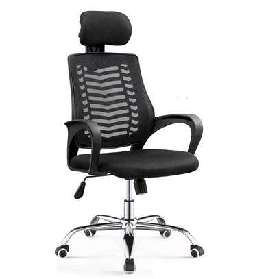 High back adjustable office Headrest chair image 1