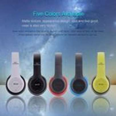 P47 Bluetooth Headphone Wireless Support TF Card - Red image 2