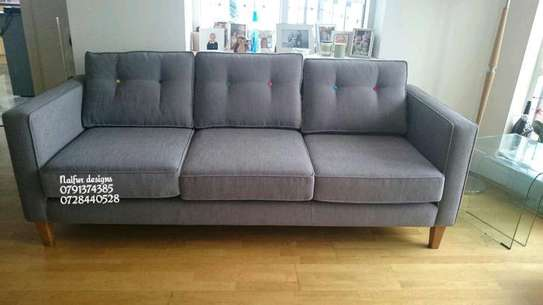 Three seater sofas/Modern sofas/grey sofas image 1