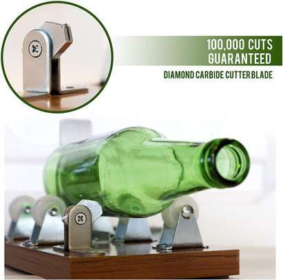 Glass Cutter - Glass Bottle Cutter - Arts and Crafts for Adults - Extra Cutting Wheel Included image 1