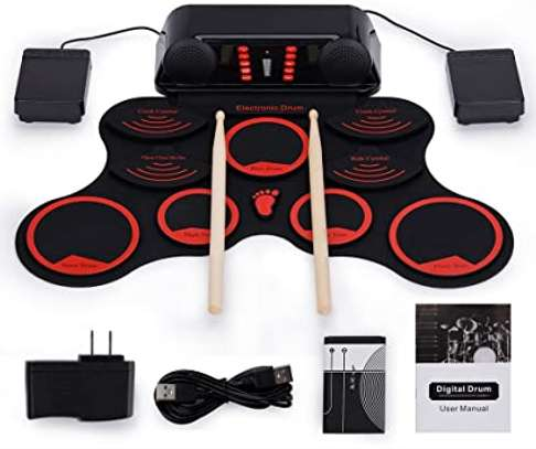 Electronic Roll-up Drum Kit 9 Pad Foldable Portable Drum Set