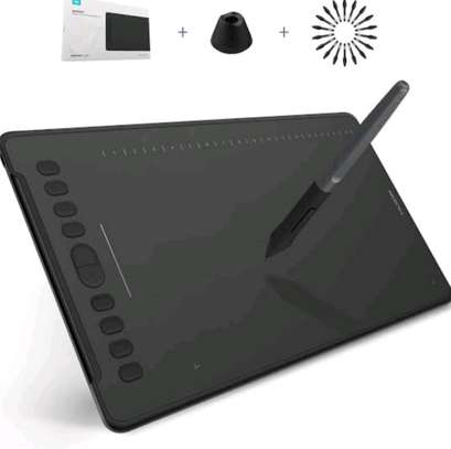 HUION Inspiroy H1161 Graphics Drawing Tablet Android Support with Battery-Free Stylus 8192 Pressure Sensitivity Tilt Touch Bar 10 Press Keys for Art image 1
