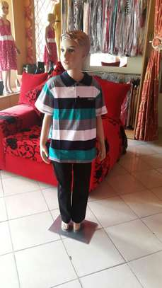Boys' Straight Cut Chinos with Matching Polo T-Shirt image 3
