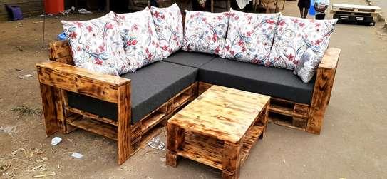 5 seater Pallet sofa/pallet furniture/corner seat image 1