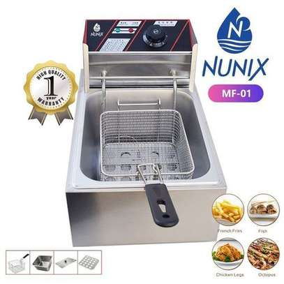 Nunix Chips/Chicken Stainless Steel Electric Deep Fryer 6 Litres image 1