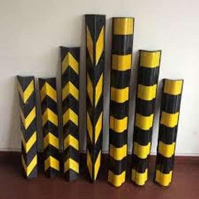 Reflective rubber corner guard image 1
