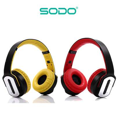 SODO MH2 Bluetooth Twist-out Speaker Headphones With NFC N Mic image 3
