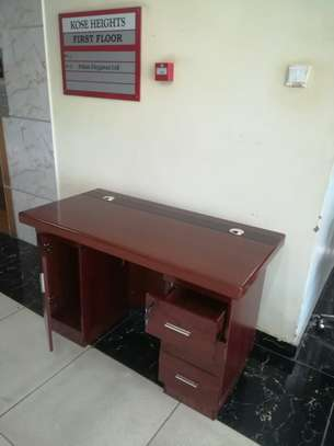 1.2 m long Mini Executive desks in mahogany finish image 1