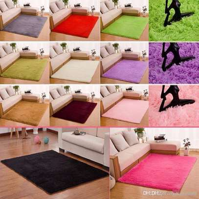 7 BY 10 ANTI SKID FLUFFY CARPET image 1
