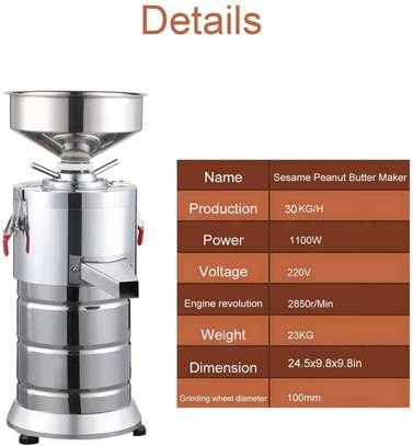 Commercial Peanut Butter Maker Machine Electric Sesame Maker, Electric Nut Butter Mill Grinding Grinder Machine image 4
