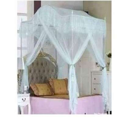 Mosquito Net with Metallic Stand (Curved) 5 by 6 - Blue image 1