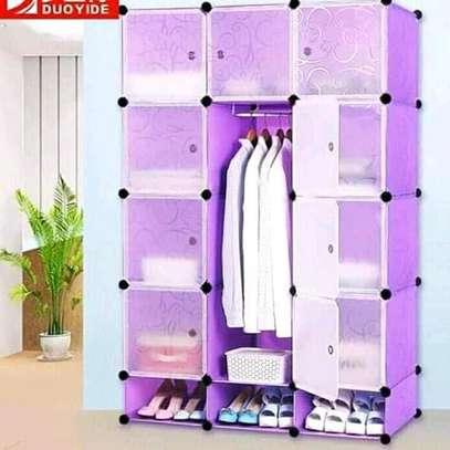 4 column plastic wardrobe image 1
