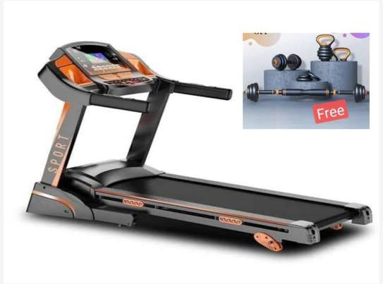 treadmill with free 4 in 1 kettle bell image 1
