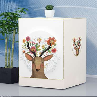 Front Load washing machine cover deer christmass