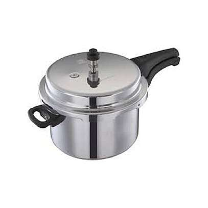Heavy Duty Pressure Cooker 10L + 6 Tablespoons - Silver