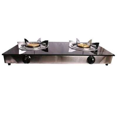 LYONS  GS003 Glass Table Top double Burner Stove image 2