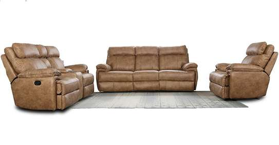 Alma plus Microfiber Recliner sofa - Mocha Color image 1
