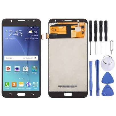LCD Screen and Digitizer Fullembly for Galaxy J7 (2015) image 1
