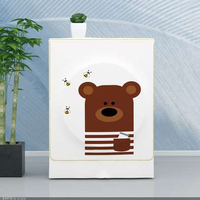 Front Load washing machine cover Bear face image 6