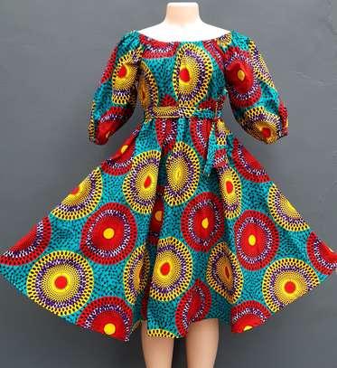 Flare ankara dress image 2