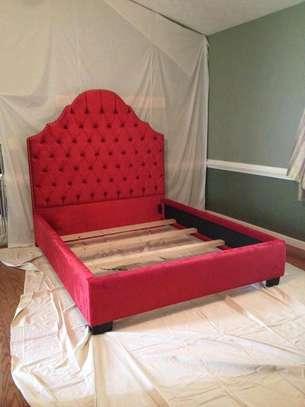Modern 5*6 tufted beds for sale in Nairobi Kenya/red queen size beds for sale in Nairobi Kenya image 1