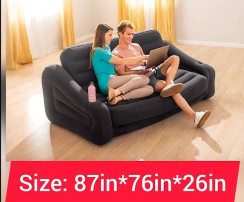 3 Seater Inflatable Pullout Sofa With Free Pump image 1
