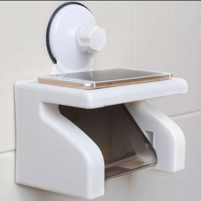 Waterproof Tissue Holder With Phone Holder N Suction image 1