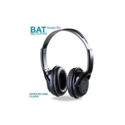 BAT Music SD Card Headphones With FM - Black image 3